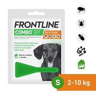 FRONTLINE COMBO spot-on pro psy S (2-10 kg)-1x0,67 ml