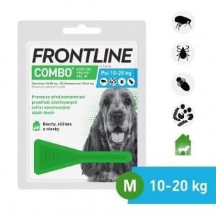 FRONTLINE COMBO spot-on pro psy M (10-20 kg)-1x1,34 ml