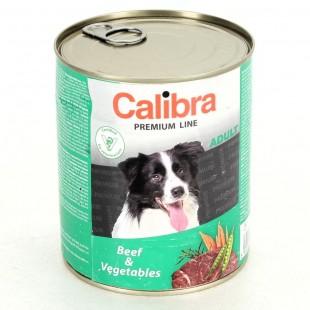 CALIBRA Dog konzerva pro psy Premium Adult hovězí + zelenina 800 g