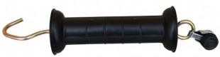 Brána - rukojeť s háčkem černá s napojením lanko/provaz