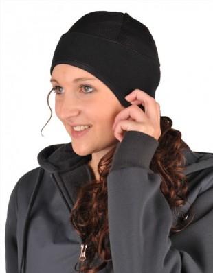 Čepice pod přilbu HKM Fleece černá