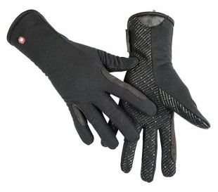 Jezdecké rukavice HKM Professional Fleece/Silicon černé