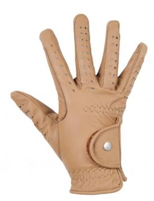 Jezdecké rukavice HKM Rimini kožené