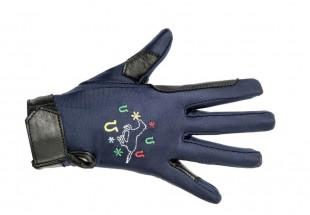 Jezdecké rukavice HKM Galloping Horse dětské