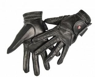 Jezdecké rukavice HKM Professional kožené