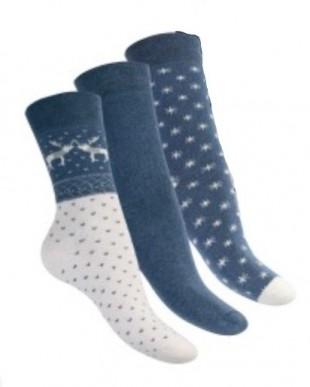 Ponožky dámské froté