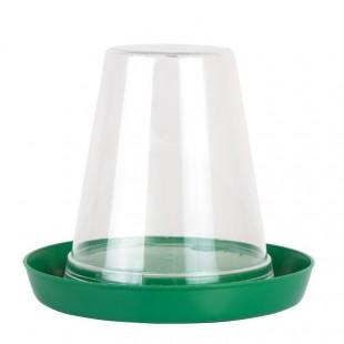 Plastová klobouková napáječka pro kuřata a křepelky 0,6ltr
