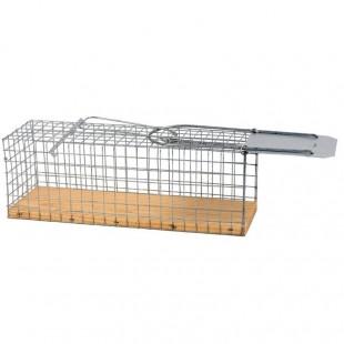 Sklopec na krysy a potkany kovový, dřevěné dno