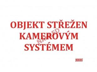 """Výstražná tabulka """"KAMEROVÝ SYSTÉM"""" bez popisku"""