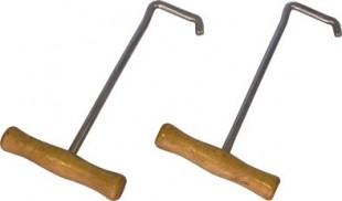 Nazouvací háčky s dřevěnou rukojetí