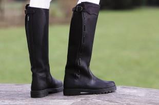 Jezdecké boty NORTON kožené černé