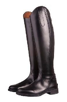 Jezdecké boty HKM Rimini kožené černé