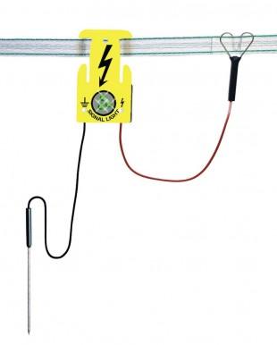 Signální světelný terčík pro ohradníky