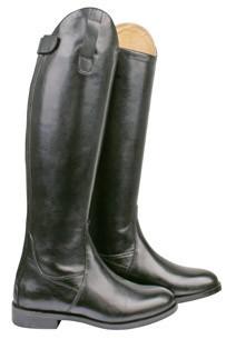 Jezdecké boty HKM Italy kožené krátké/široké lýtko