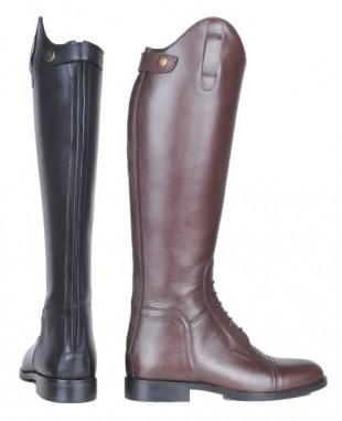 Jezdecké boty HKM Spain kožené krátké/široké lýtko