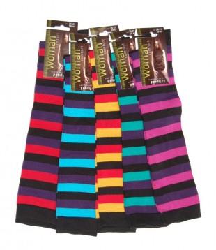 Podkolenky PONDY elastické tmavé pruhy různé barvy