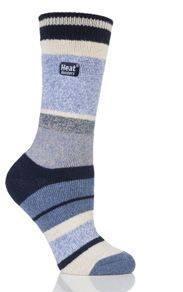 Ponožky Heat Holders Lite pánské 39-45 pruhy modré