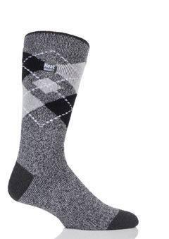 Ponožky Heat Holders Lite pánské 39-46 šedé káro