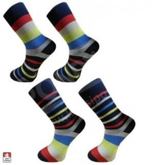 Ponožky PONDY froté PRUHY různobarevné