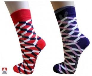Ponožky PONDY designové BOXY dámské