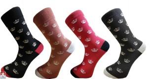 Ponožky PONDY designové KORUNKY pánské
