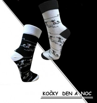 Ponožky PONDY designové  KOČKY 2 páry