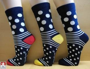 Ponožky PONDY designové PUNTÍK modré