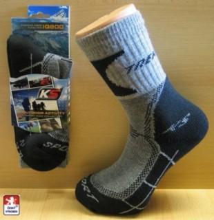 Ponožky sportovní PONDY Trek Thermo černošedé