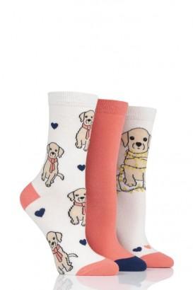 Ponožky dámské WILD FEET 37-42, balení 3 páry, Štěně