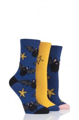 Ponožky dámské WILD FEET 37-42, balení 3 páry, Netopýr