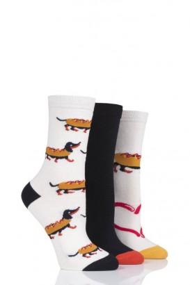 Ponožky dámské WILD FEET 37-42, balení 3 páry, HOT DOG