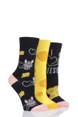 Ponožky dámské WILD FEET 37-42, balení 3 páry, Myška
