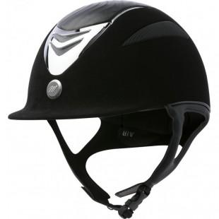 Jezdecká  přilba EQUIT'M Air  umělý semiš/imitace kůže černá