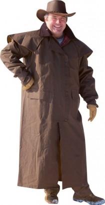 Westernový kabát RANDOL´S dlouhý hnědý