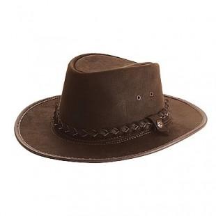 Westernový klobouk BC HAT Bac Pac kožený