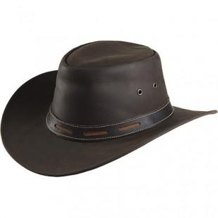 Westernový klobouk RANDOL'S Smooth kožený hnědý