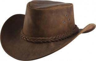 Westernový klobouk RANDOL'S Antique kožený hnědý