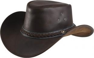 Westernový klobouk RANDOL'S Style kožený hnědý