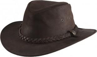 Westernový klobouk RANDOL'S Oiled Suede kožený hnědý