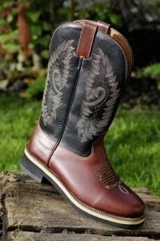 Westernové boty HKM Softy cow kožené