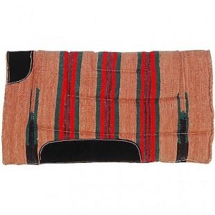 Westernová deka Navajo vyztužená kůží, umělý beránek 60x60cm