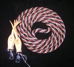 Westernové otěže žíhané provazové spojené