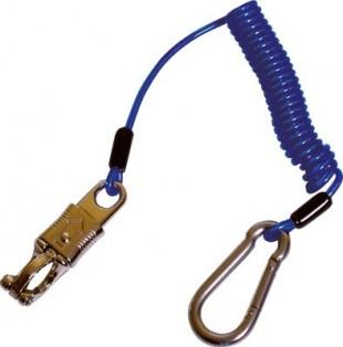 Vazák Flex-Hook pružinový s karabinami modrý