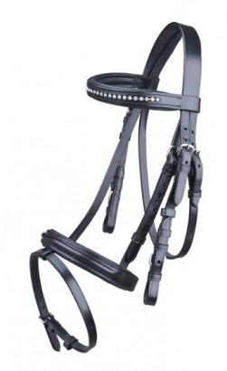 Uzdečka HKM Mini Shetty kožená černá