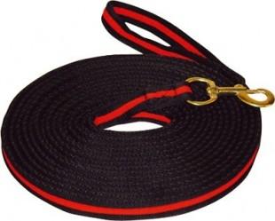 Lonž SOFT 8m černočervená
