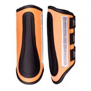 Chrániče HORZE bZeen reflexní oranžové - pár