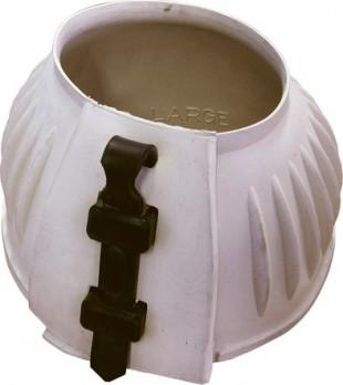 Gumový zvon se zapínáním průvleč.páskou bílý-pár