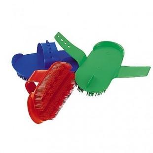 Kartáč plast.na čištění oválný malý, různé barvy
