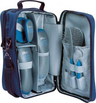 Čistící set na koně OSTER kufr modrý