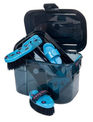 Box na čištění HKM Funny Horses modrý